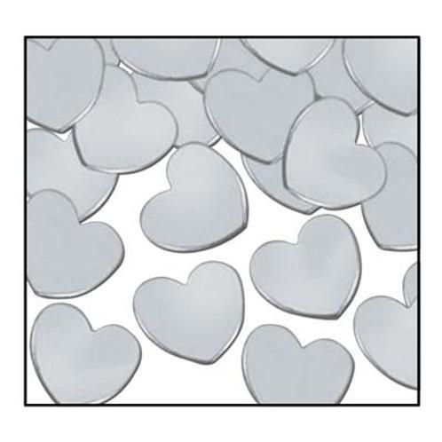 Silver Heart Confetti 1 oz