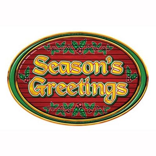 Christmas Cutout Season's Greetings