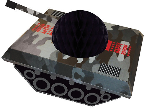 Army Honeycomb Tank Centerpiece