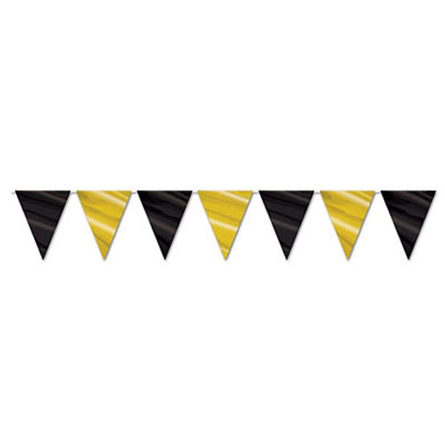 Black and Gold Pennant
