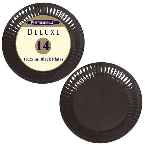 "Deluxe Plates Dinner 10.25"" - Black 14Ct"