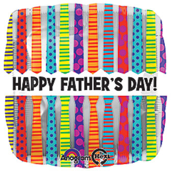 """17"""" Happy Father's Day Tie Patterns"""