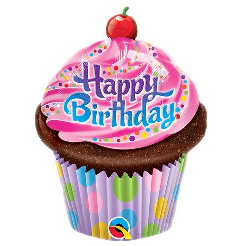 "Balloon 14"" Birthday Cupcake"