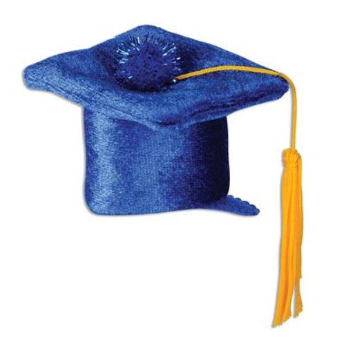 Blue Graduation Cap Hair Clip