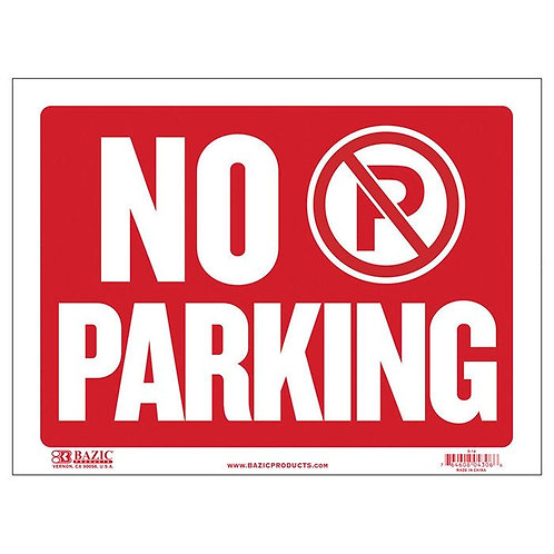 "9"" x 12"" No Parking Sign"