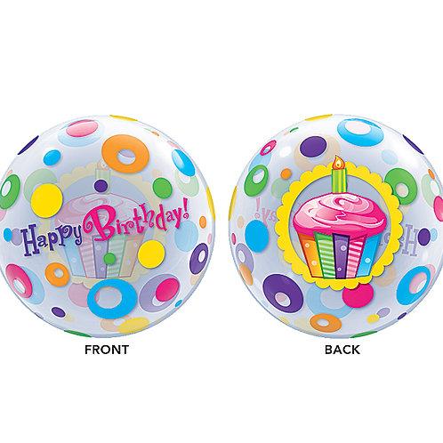 "Balloon Cupcakes Happy Birthday Bub 22"""