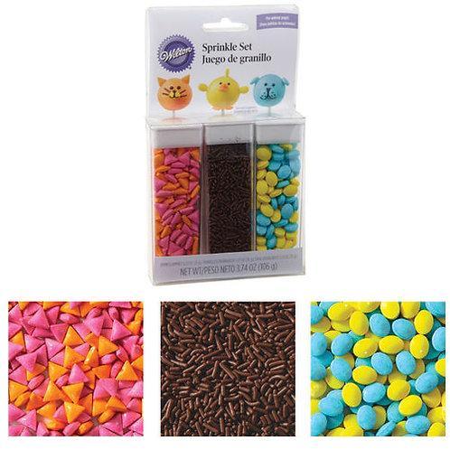 Animal Pops Sprinkle Set 3Ct