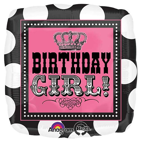 "Balloon Foil 17"" Birthday Girl!"