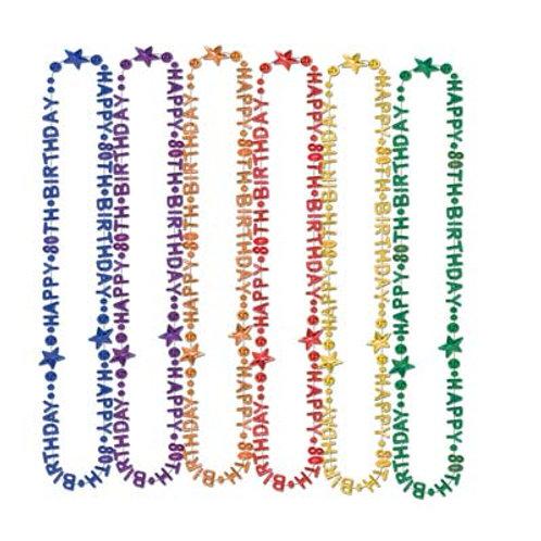 80th Birthday Beads
