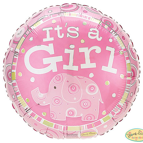 """Balloon Foil 18"""" Its A Girl Pink"""