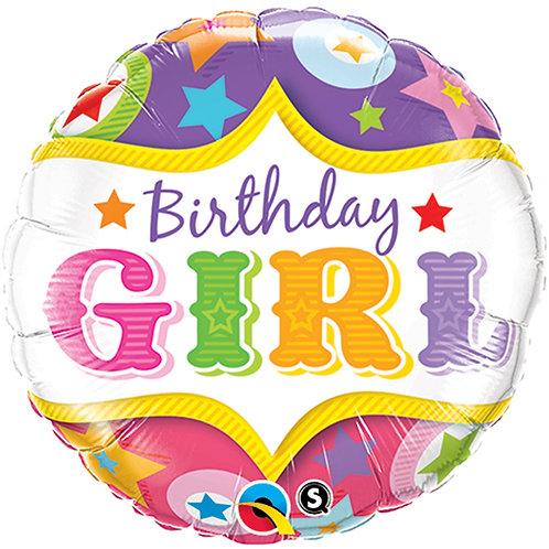 "Balloon Foil 18"" Happy Birthday Girl"