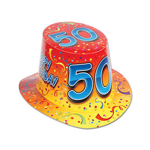 50th Birthday Hat Top
