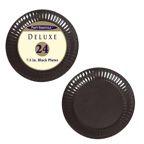"Deluxe Plates Salad 7.5""- Black 24Ct"