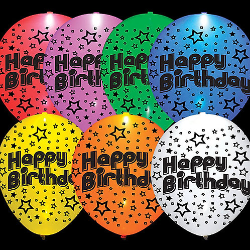 "Balloon 11"" Led Lite Happy Birthday 20H"