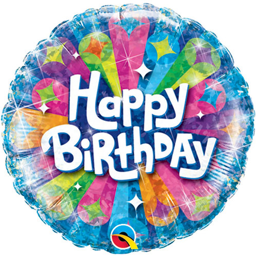 "Balloon Foil 18"" Happy Birthday Radiant"