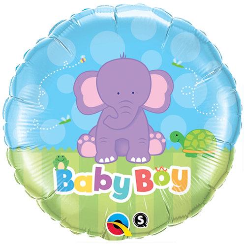 """Balloon Foil 18"""" Baby Boy Elephant"""