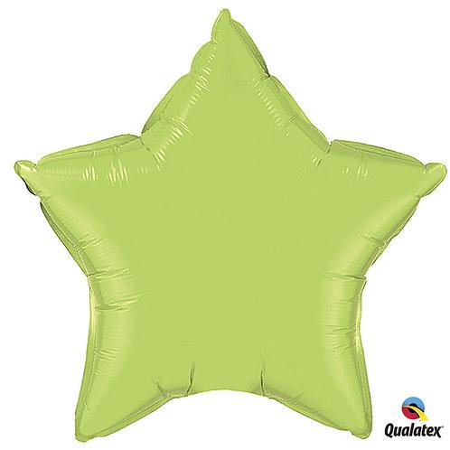 """Balloon Foil 20"""" Star Light Green"""