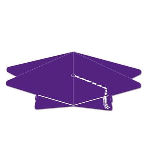 Purple Graduation Cap Centerpiece