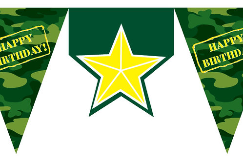 Army Flag Banner Shaped