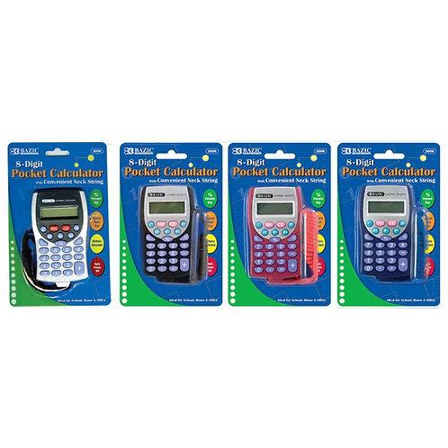 8-Digit Pocket Size Calculator with Neck String