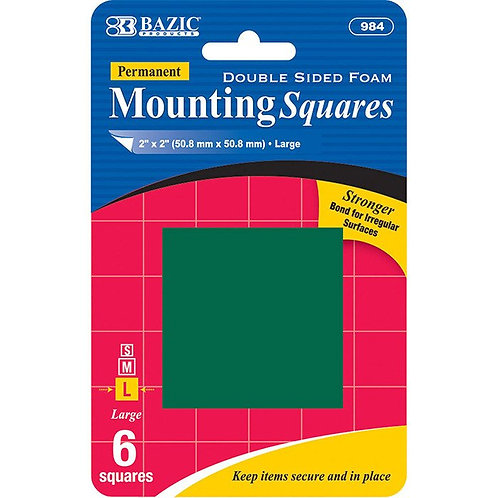 """2"""" Double Sided Foam Mounting Squares (6/Pack)"""