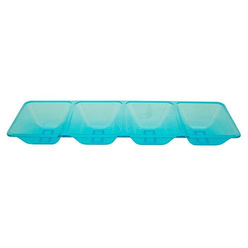 4 Compartment Tray - Neon Blue