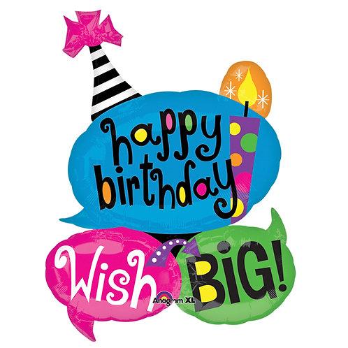 "Balloon Foil 34"" Happy Birthday"