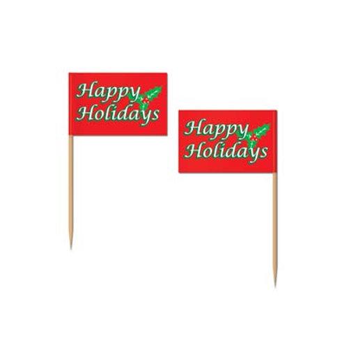 Christmas Pick Happy Holidays 50ct