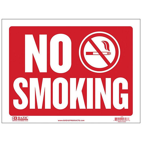 "12"" x 16"" No Smoking Sign"