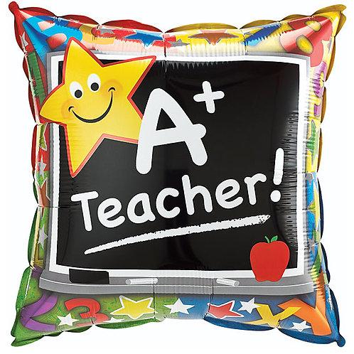 "Balloon 18"" A+ Teacher"