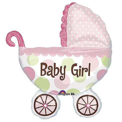 """Balloon 31"""" Baby Girl Buggy"""