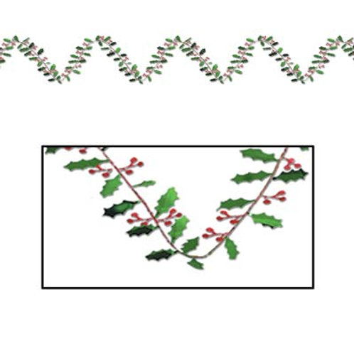 Christmas Garland Holly & Berry