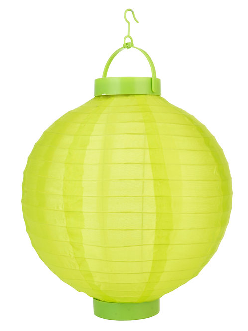 "Lantern Led Nylon 10"" Round Apple Green"