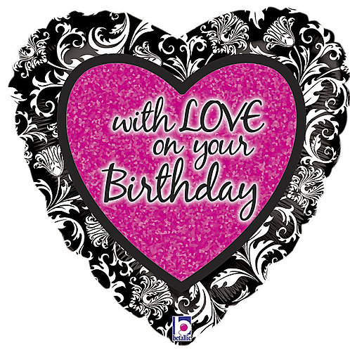 "Balloon Foil 18"" With Love Happy Birthday"
