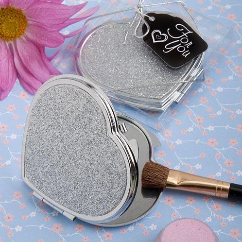 Favor Mirror Silver Glitter