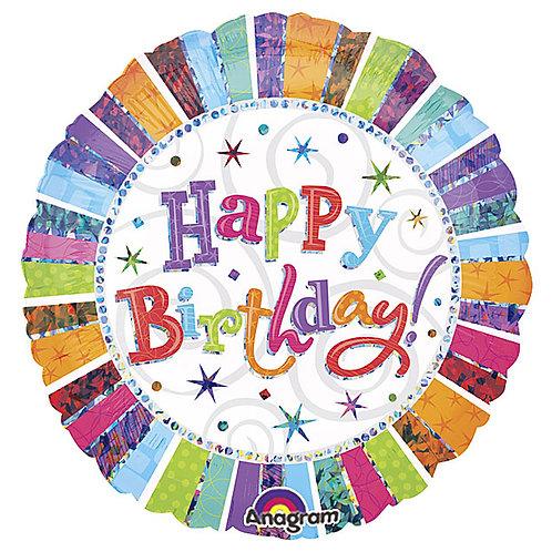 "Balloon Foil 18"" Radiant Birthday"