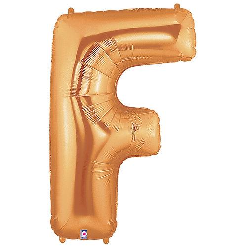 """Balloon Foil 40"""" Letter """"F"""" Gold"""