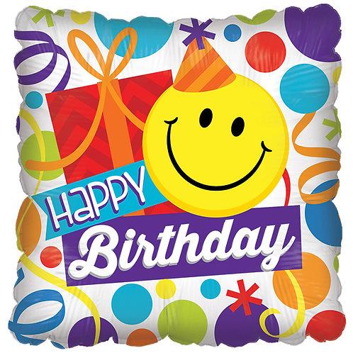 """Balloon Foil 18"""" Happy Birthday Smile"""