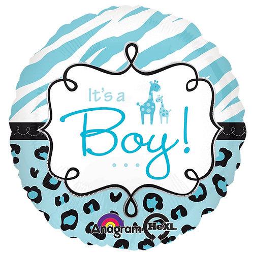 """Balloon Foil 17"""" Safari Boy"""