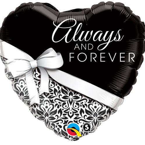 "Balloon Foil 18"" Always Forever"