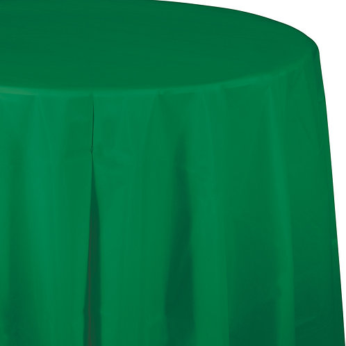 """Green Emerald Tablecover 82"""" Octy  Rnd"""