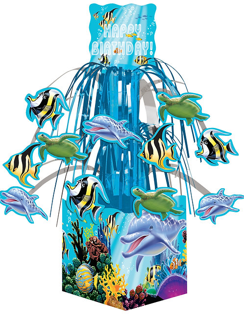 Ocean Party Centerpiece, Mini Foil Cascade
