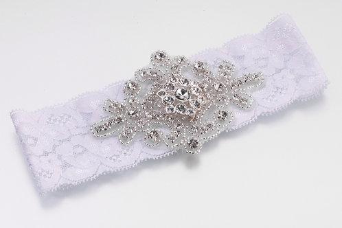 Wedding Garter Jeweled Motif
