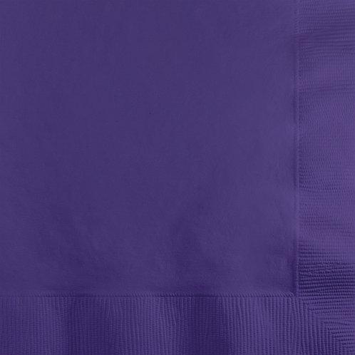 Purple Beverage Napkin