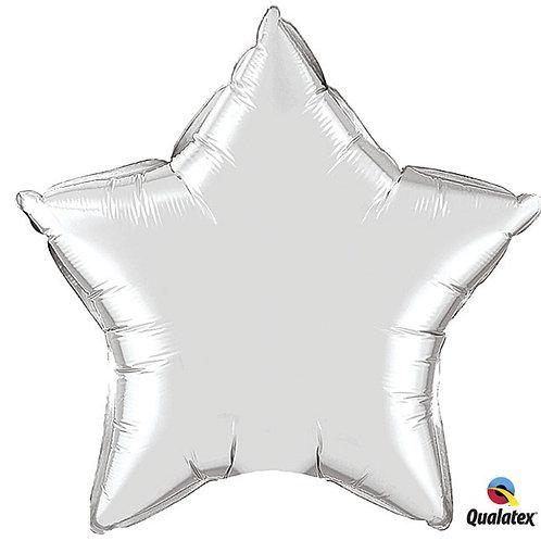 "Balloon Foil 20"" Star Silver"