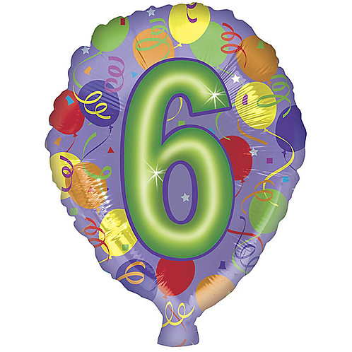 "Balloon Foil 18"" Number 6"