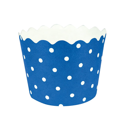 Baking Cups Polka Dot Bake Cup -  True Blue (12 ct)
