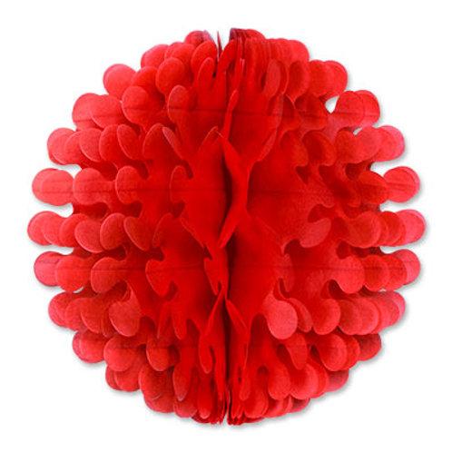 "Red Tissue Flute Ball 19"""