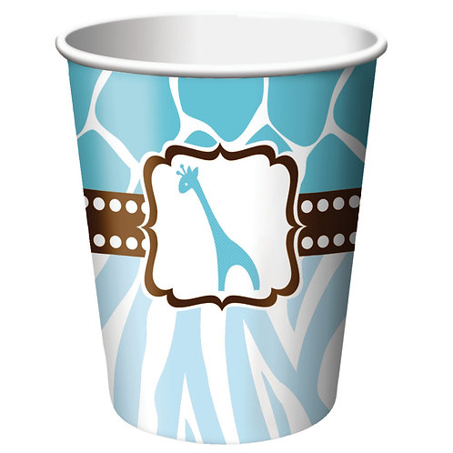 Wild Safari - Blue Hot/Cold Cup 9Oz (8Ct)