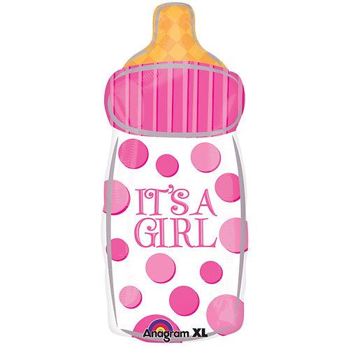 """Balloon Foil 23"""" Girl Bottle"""
